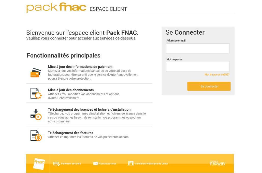 Pack Fnac: Espace Client